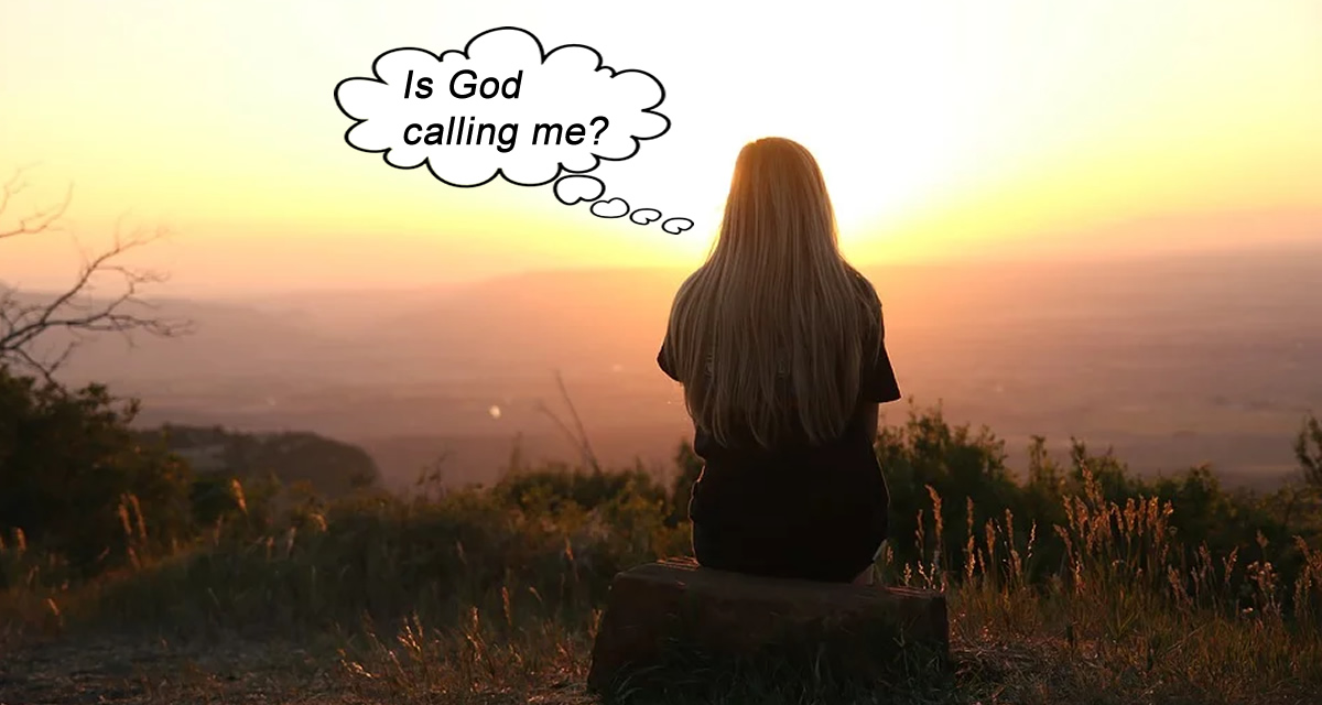 Is God calling me? a woman wonders while gazing at sunset